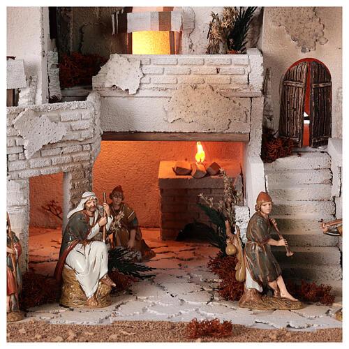 Crèche complète style arabe four santons Moranduzzo 10 cm 40x50x40 cm 2