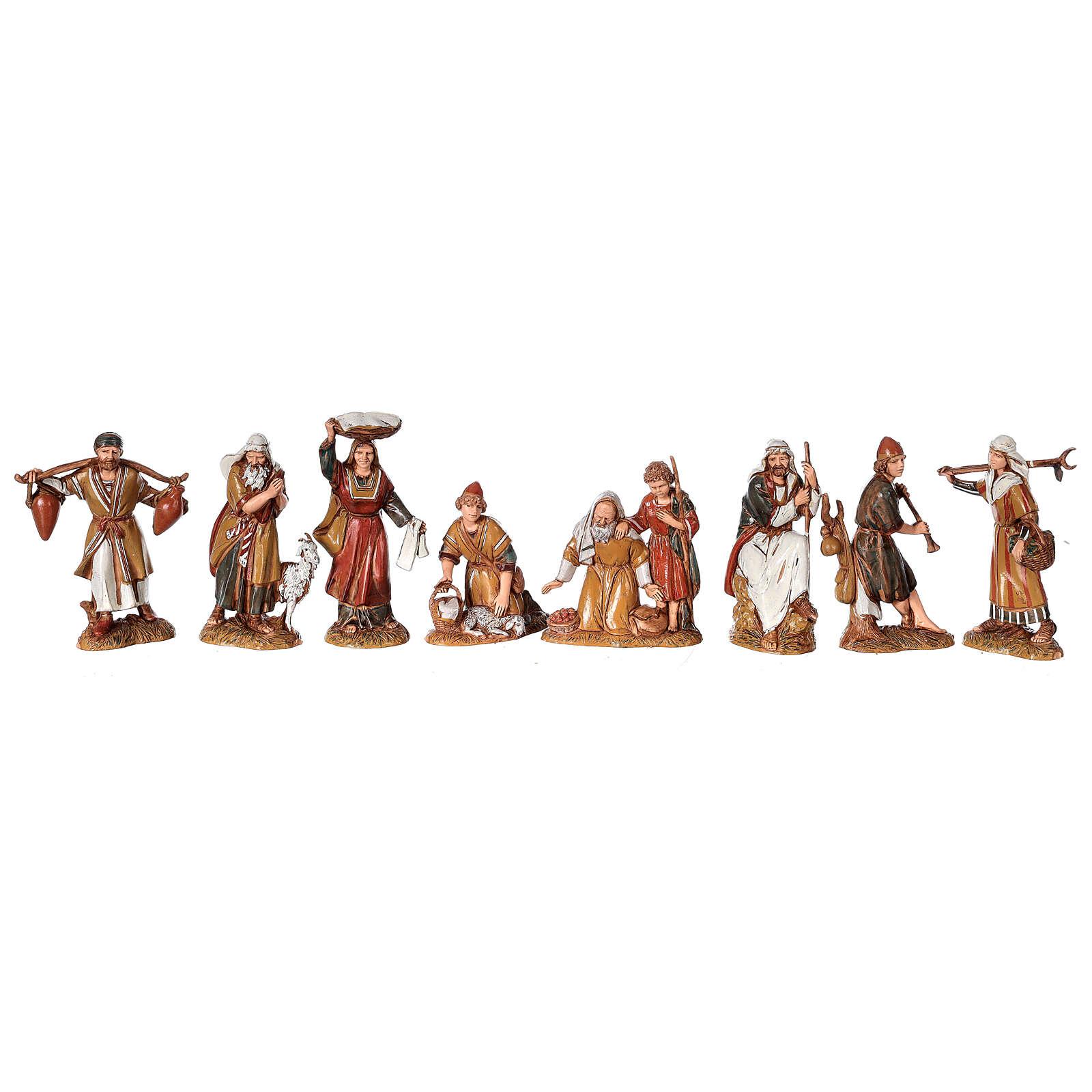 Presépio completo estilo árabe com forno figuras Moranduzzo altura média 10 cm; medidas: 38x50x40 cm 4