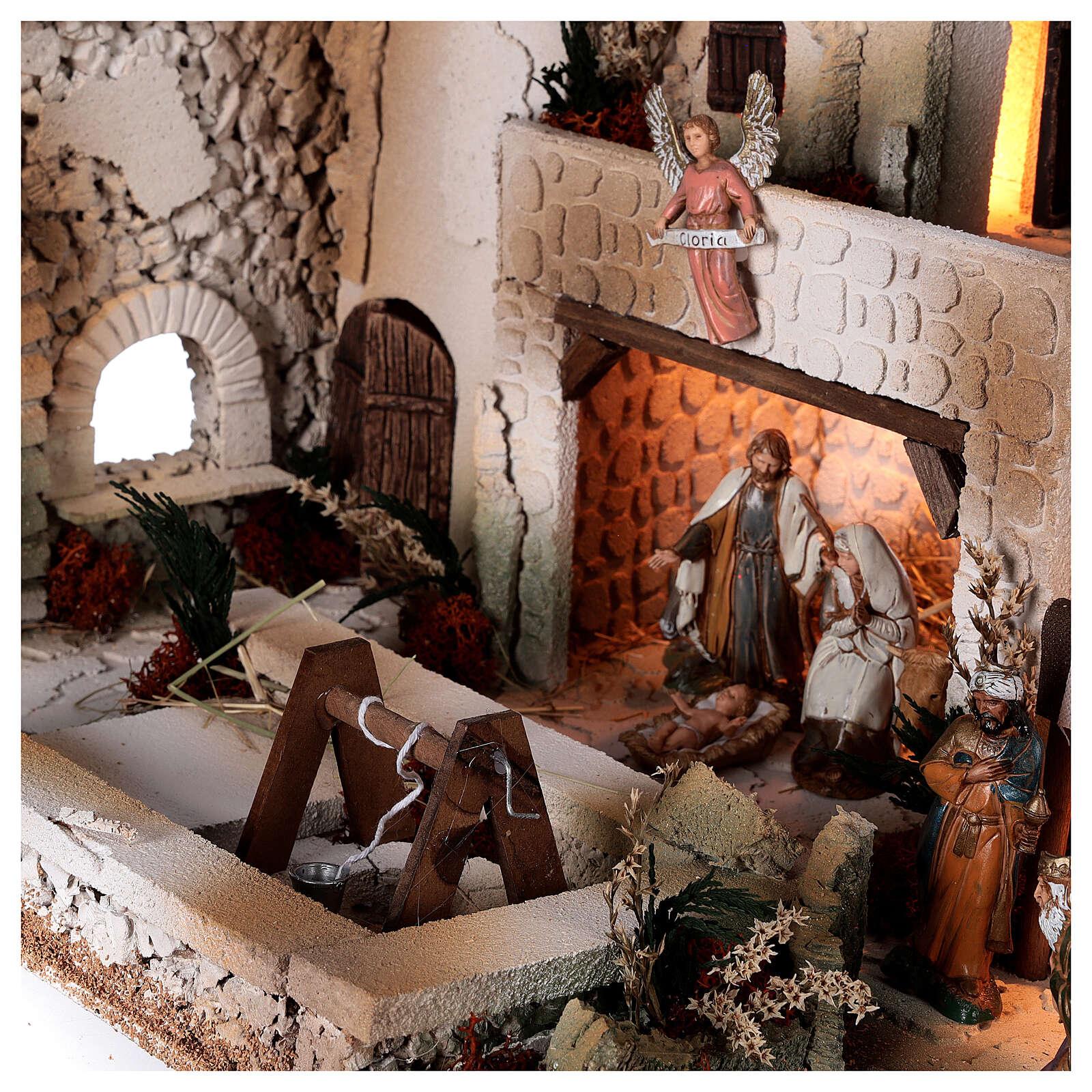 Moranduzzo Palestinian Nativity scene with well statues 10 cm 35x50x40 cm 4