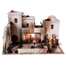 Moranduzzo Palestinian Nativity scene with well statues 10 cm 35x50x40 cm s1