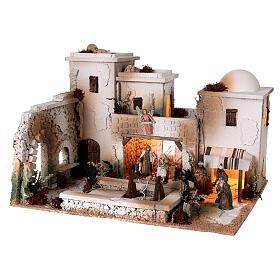 Moranduzzo Palestinian Nativity scene with well statues 10 cm 35x50x40 cm s4