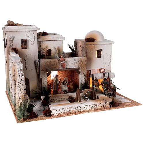 Moranduzzo Palestinian Nativity scene with well statues 10 cm 35x50x40 cm 6