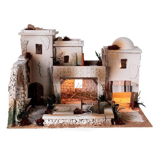 Moranduzzo Palestinian Nativity scene with well statues 10 cm 35x50x40 cm 7