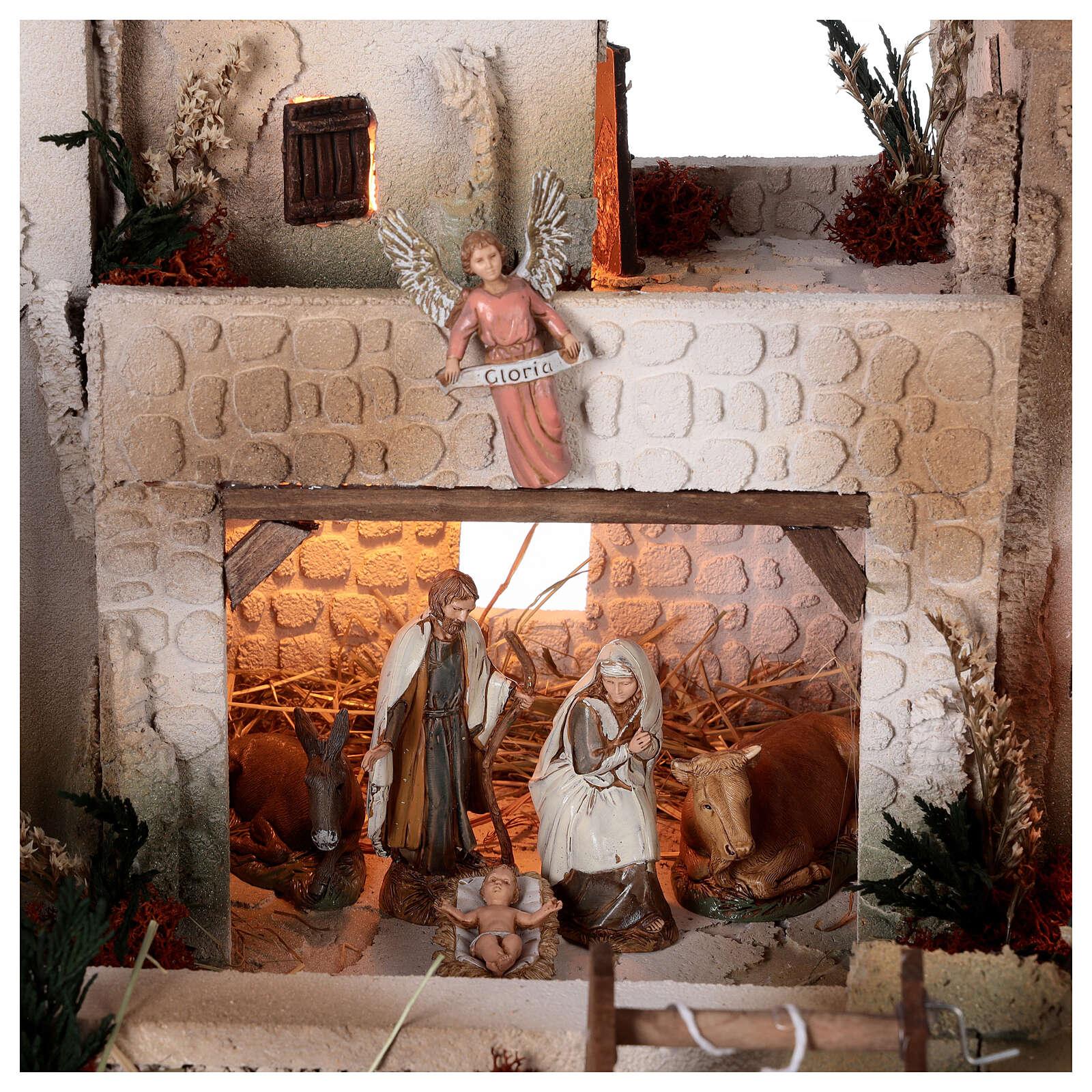 Presepe palestinese con pozzo statue Moranduzzo 10 cm 35x50x40 cm 4