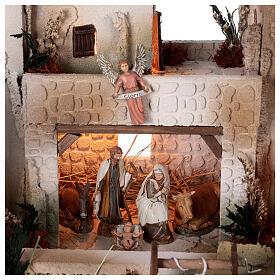 Presepe palestinese con pozzo statue Moranduzzo 10 cm 35x50x40 cm s2