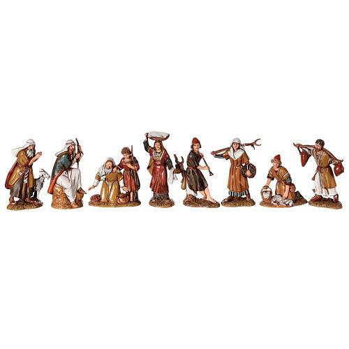Presépio estilo árabe cena mercado figuras Moranduzzo altura média 10 cm; medidas: 33x50x40 cm 3