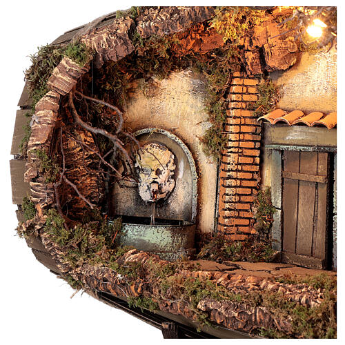Fountain barrel working Neapolitan Nativity scene 10 cm 2