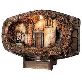 Barrel electric fountain for Neapolitan Nativity Scene with 10 cm figurines s3