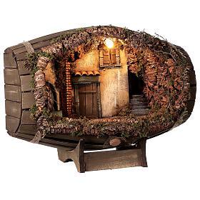 Barrel electric fountain for Neapolitan Nativity Scene with 10 cm figurines s4