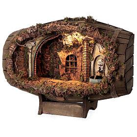 Neapolitan nativity scene horizontal barrel 12-15 cm s3