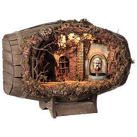 Neapolitan nativity scene horizontal barrel 12-15 cm s5