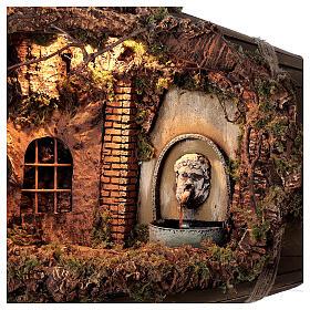 Horizontal barrel for Neapolitan Nativity Scene with 12-15 cm figurines s2