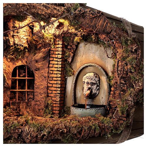 Horizontal barrel for Neapolitan Nativity Scene with 12-15 cm figurines 2