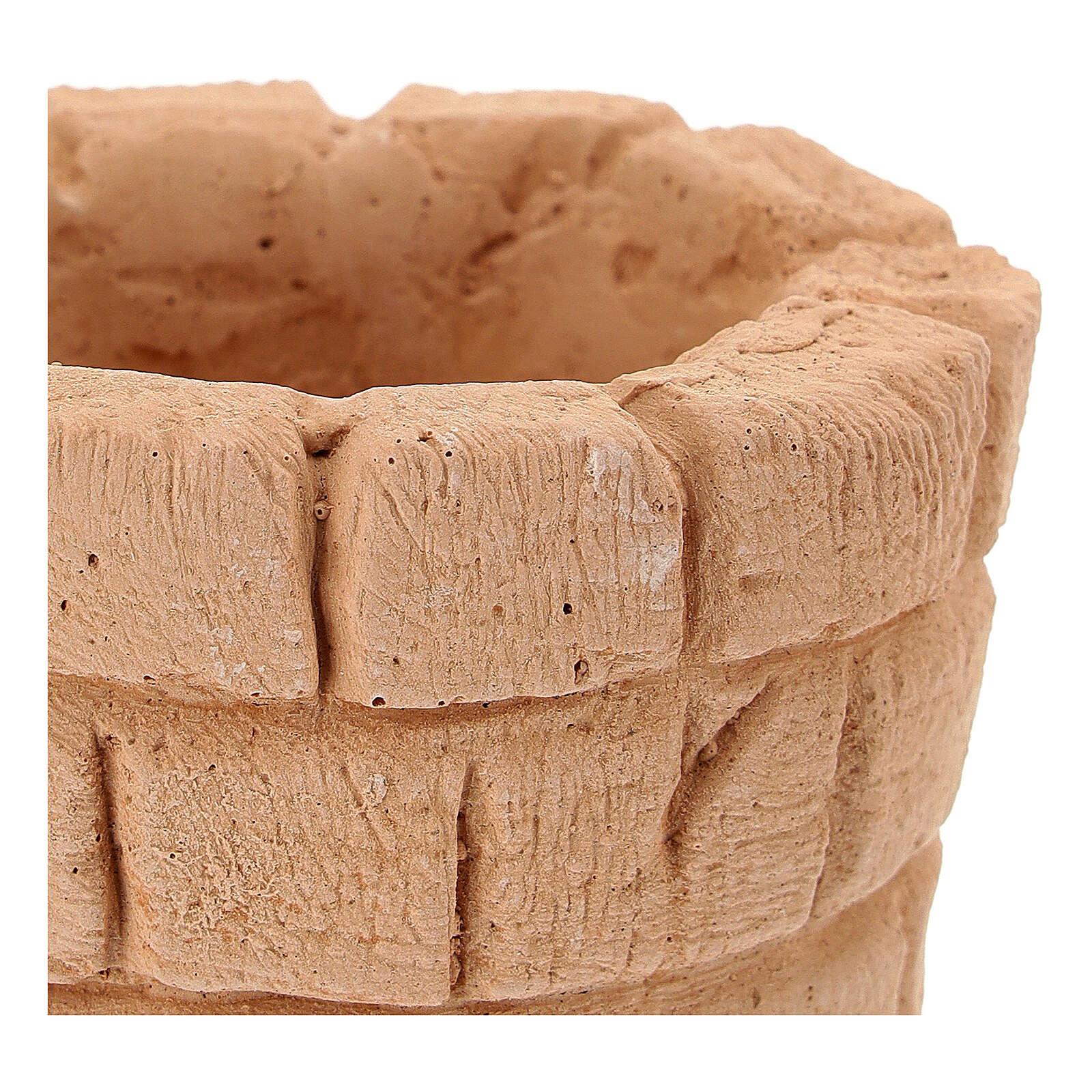 Bloc fontaine terre cuite diamètre 6 cm crèche 10 cm 4