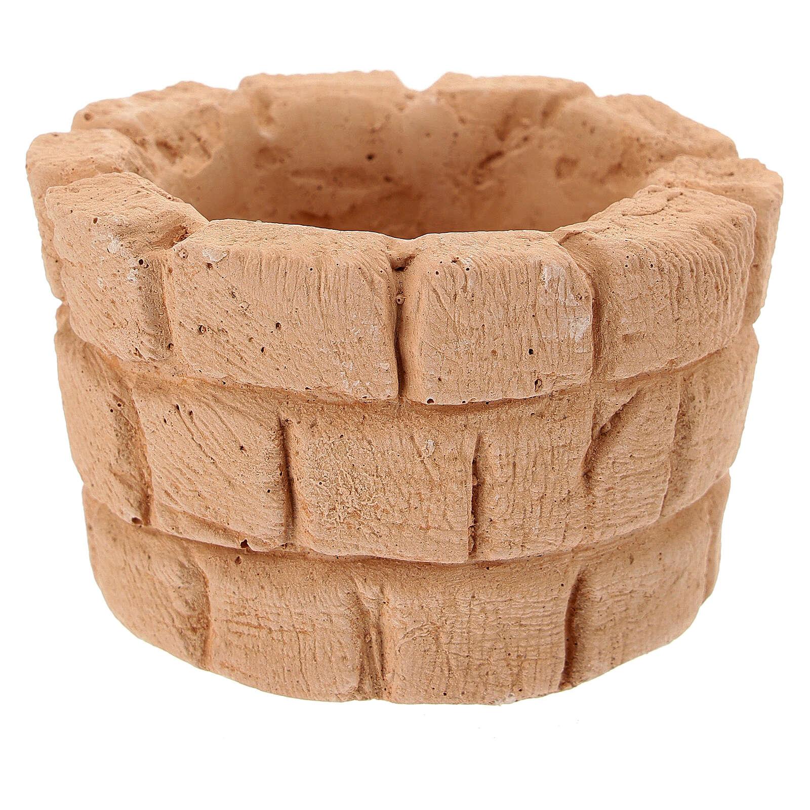 Blocco fontana terracotta diam 6 cm presepe 10 cm 4