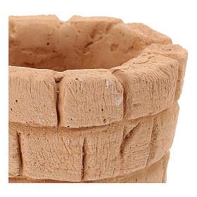 Blocco fontana terracotta diam 6 cm presepe 10 cm s2