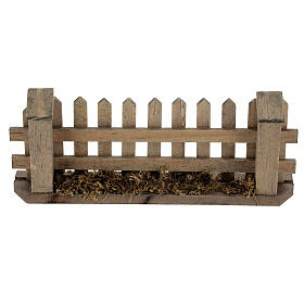 Wooden fence for Nativity scene 5x10x2 cm s1