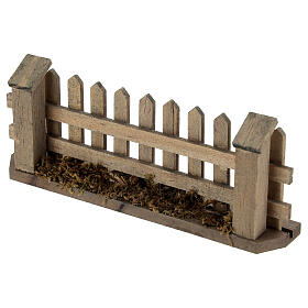 Wooden fence for Nativity scene 5x10x2 cm s3