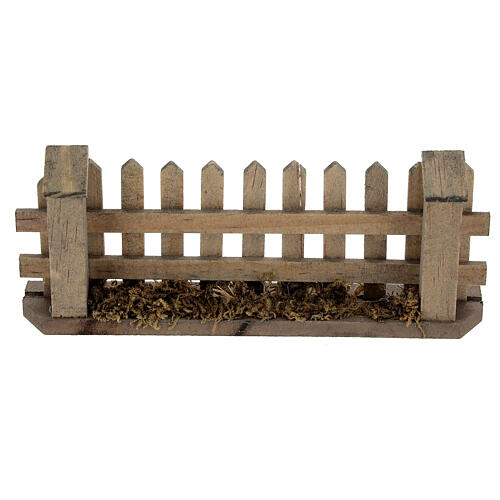 Wooden fence for Nativity scene 5x10x2 cm 1