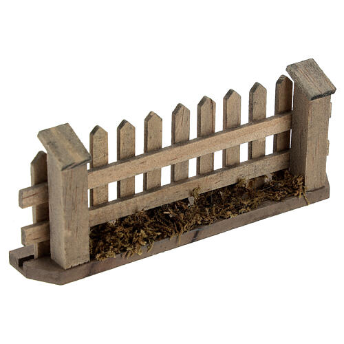 Wooden fence for Nativity scene 5x10x2 cm 2