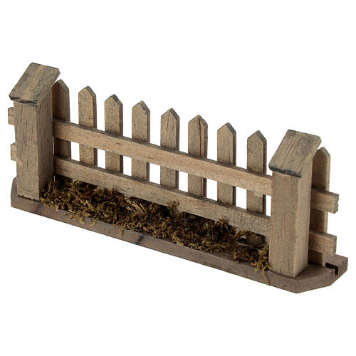 Wooden fence for Nativity scene 5x10x2 cm 3