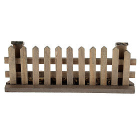 Cerca madeira para presépio com figuras de altura média 8-12 cm; medidas: 5x10x2 cm s4