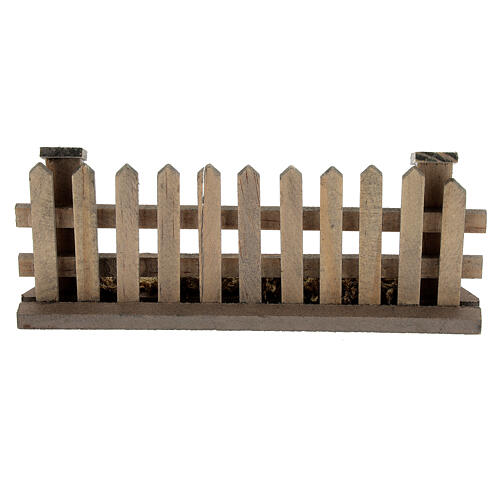 Wood fence 5x10x2 cm for Nativity Scene with 8-12 cm figurines 4