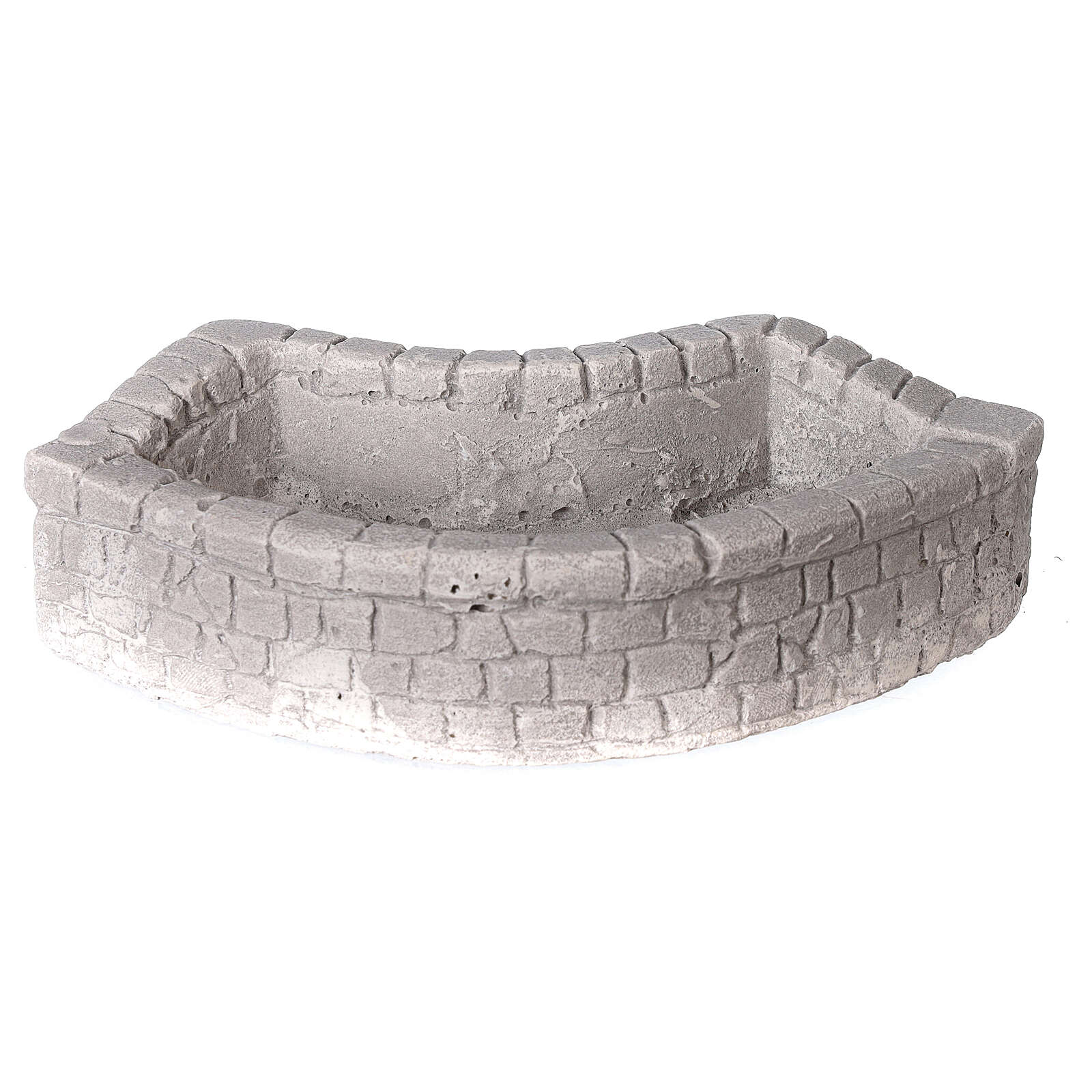Circular plaster wash basin for Nativity scene 10-12-14 cm 4