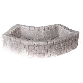 Circular plaster wash basin for Nativity scene 10-12-14 cm s1