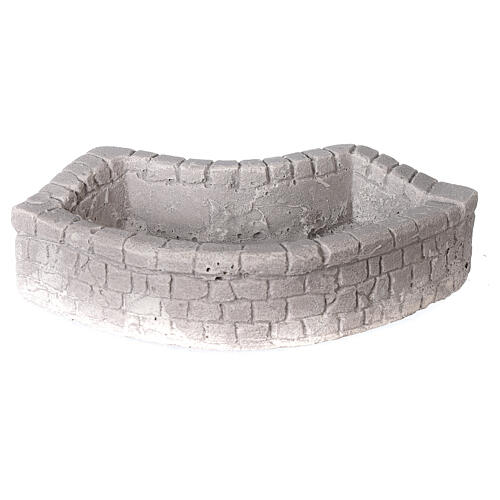 Circular plaster wash basin for Nativity scene 10-12-14 cm 1