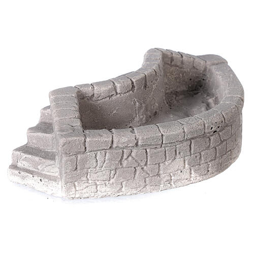Circular plaster wash basin for Nativity scene 10-12-14 cm 3