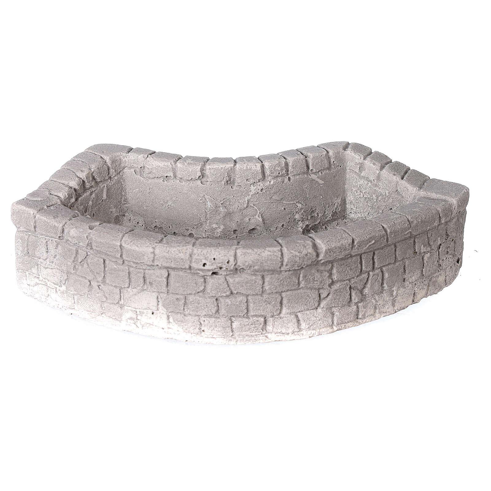 Lavoir circulaire en plâtre 15x5x10 cm pour crèche 10-12-14 cm 4