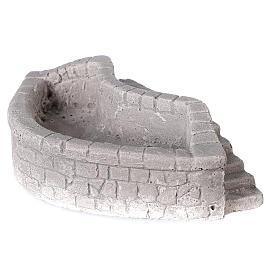 Lavoir circulaire en plâtre 15x5x10 cm pour crèche 10-12-14 cm s2