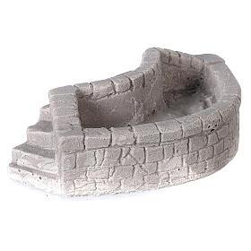 Lavoir circulaire en plâtre 15x5x10 cm pour crèche 10-12-14 cm s3