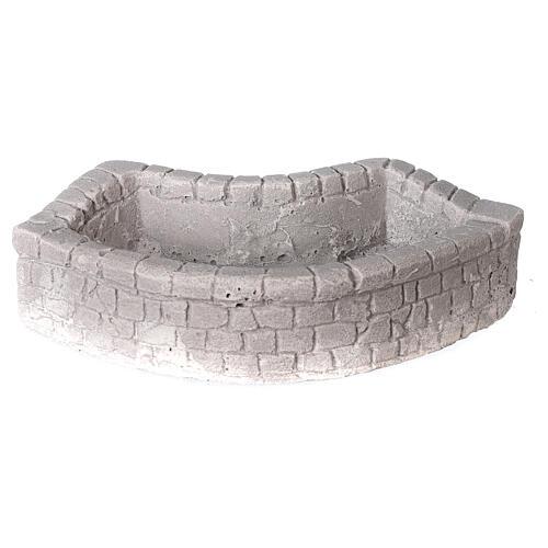 Lavoir circulaire en plâtre 15x5x10 cm pour crèche 10-12-14 cm 1