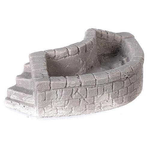 Lavoir circulaire en plâtre 15x5x10 cm pour crèche 10-12-14 cm 3