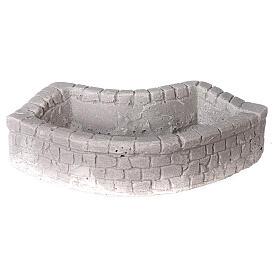 Lavatoio circolare in gesso 15x5x10 per presepe 10-12-14 cm s1