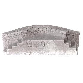 Lavatoio circolare in gesso 15x5x10 per presepe 10-12-14 cm s4