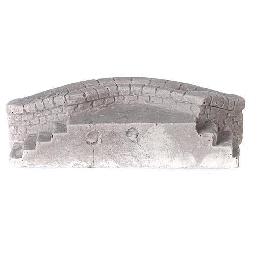 Lavatoio circolare in gesso 15x5x10 per presepe 10-12-14 cm 4