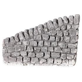Muret en plâtre 10x5x10 cm pour crèche 10-12-14 cm s4