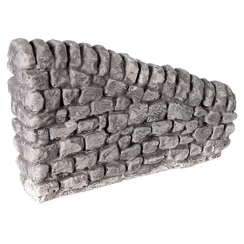 Muret en plâtre 10x5x10 cm pour crèche 10-12-14 cm 3
