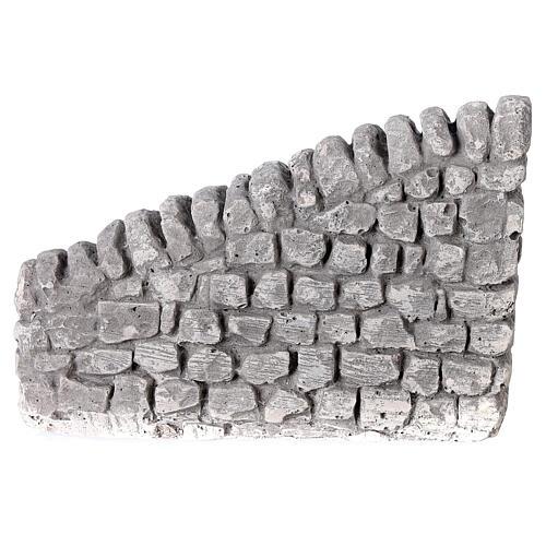 Muret en plâtre 10x5x10 cm pour crèche 10-12-14 cm 4