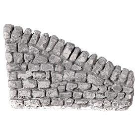 Muro irregular em miniatura gesso para presépio com figuras altura média 10-14 cm; medidas: 10x13x2,5 cm s1