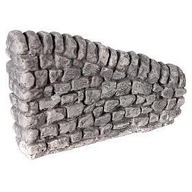 Muro irregular em miniatura gesso para presépio com figuras altura média 10-14 cm; medidas: 10x13x2,5 cm s3