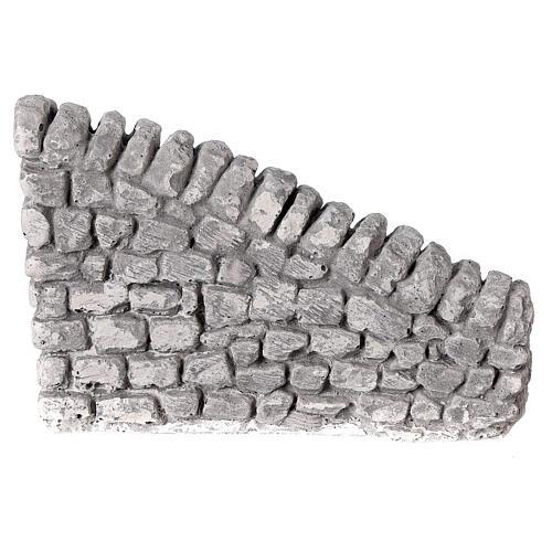 Muro irregular em miniatura gesso para presépio com figuras altura média 10-14 cm; medidas: 10x13x2,5 cm 1