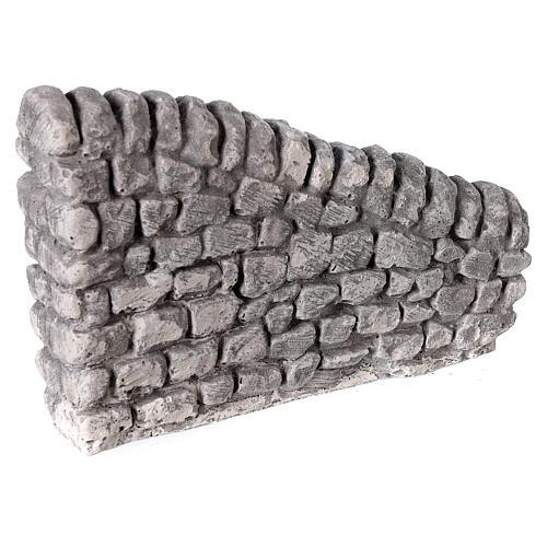 Muro irregular em miniatura gesso para presépio com figuras altura média 10-14 cm; medidas: 10x13x2,5 cm 3