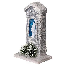 Capela Nossa Senhora em miniatura gesso para para presépio com figuras altura média 10-14 cm; medidas: 12x6x4 cm s2