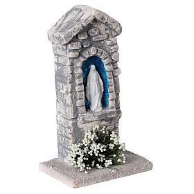 Capela Nossa Senhora em miniatura gesso para para presépio com figuras altura média 10-14 cm; medidas: 12x6x4 cm s3