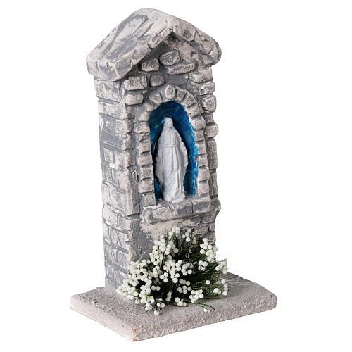 Capela Nossa Senhora em miniatura gesso para para presépio com figuras altura média 10-14 cm; medidas: 12x6x4 cm 3
