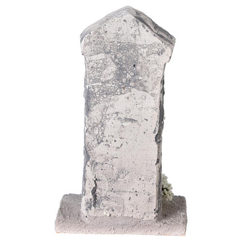 Capela Nossa Senhora em miniatura gesso para para presépio com figuras altura média 10-14 cm; medidas: 12x6x4 cm 4